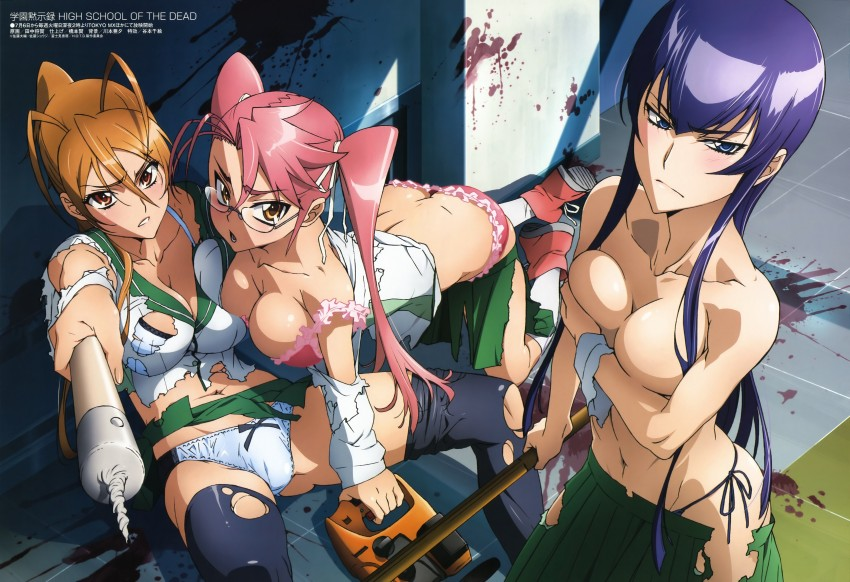 highschool pink the of dead hair Anime step sister naked comic