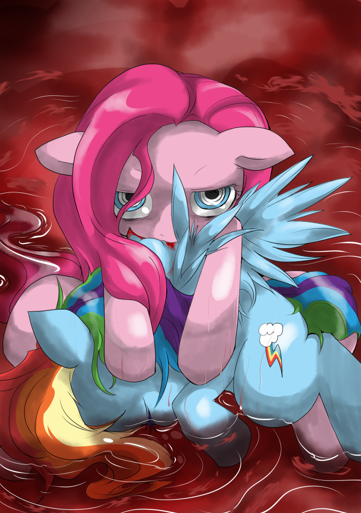 rainbow pinkie vs dash pie Forest of the blue skin puppeteer